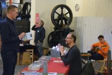 Arto Hämmäläinen, Björn Schageström från Syster förlag, Tomar Carlberg och Olle Bergman