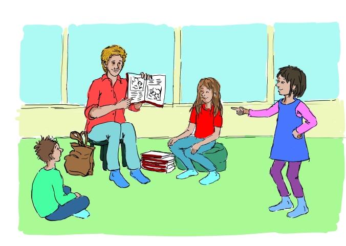 Författare möter skolbarn